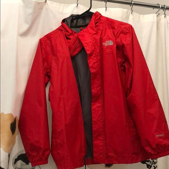 Red NorthFace Raincoat